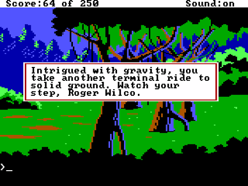 Go north and fall into chasm in the area after crossing the log.