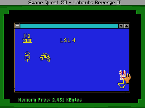 Delete Space Quest IV from the computer.